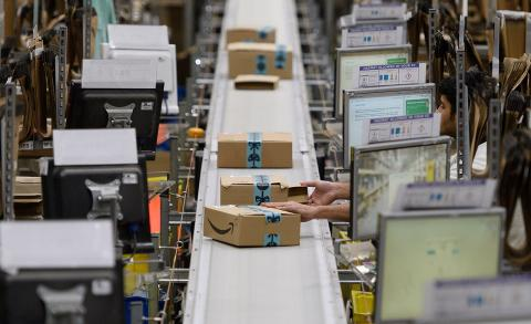 Amazon warehouse. Photo: Leon Neal / Getty Images